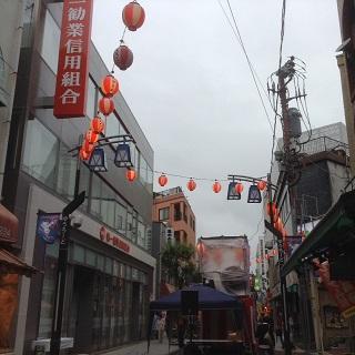 ゆうろーど盆踊り雨2015.8.29