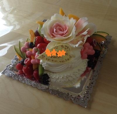 ご成婚ケーキ佐々木松村ケーキ星