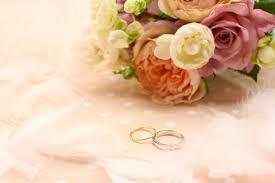 指輪と花束